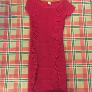 Dresses & Skirts - Red Ribed dress